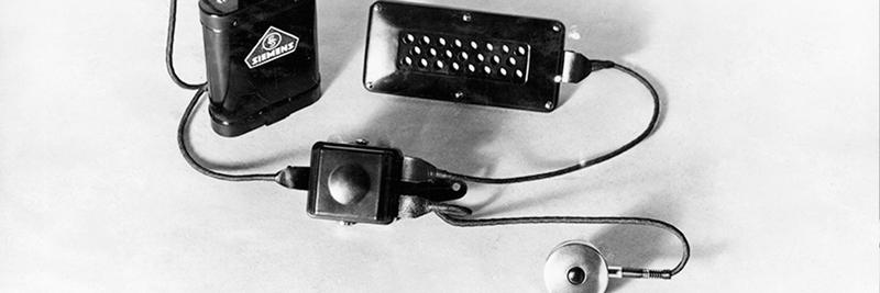 Первые слуховые аппараты Siemens