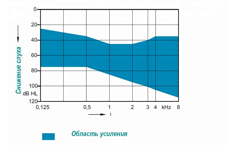 Слуховой аппарат Rextone Arena P1 параметры усиления